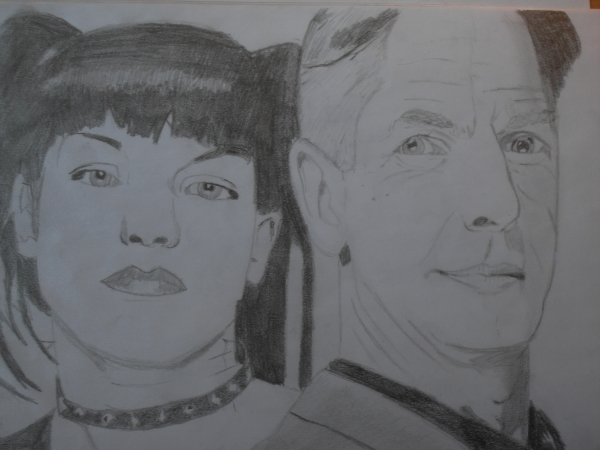 Mark Harmon, Pauley Perrette by Erwan